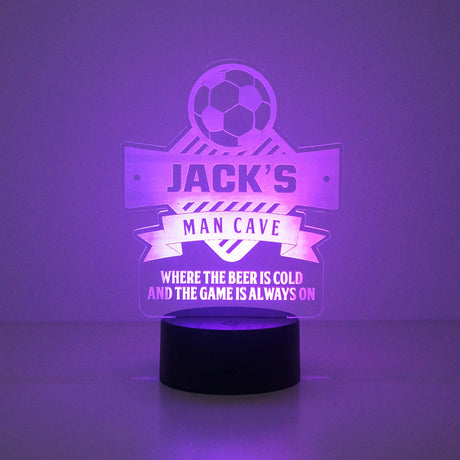 Personalised football man cave LED sign