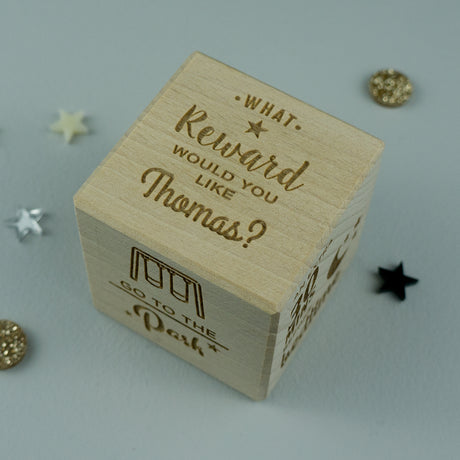 Personalised children's treats rewards dice