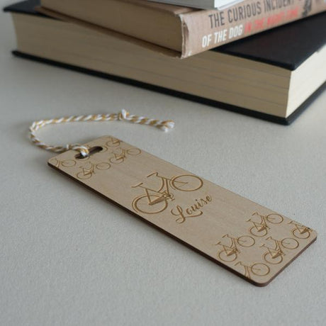 Engraved bookmark for keen cyclists female