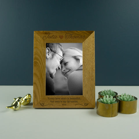 Personalised photo frame for couples