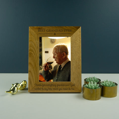 Best Grandad ever photo frame