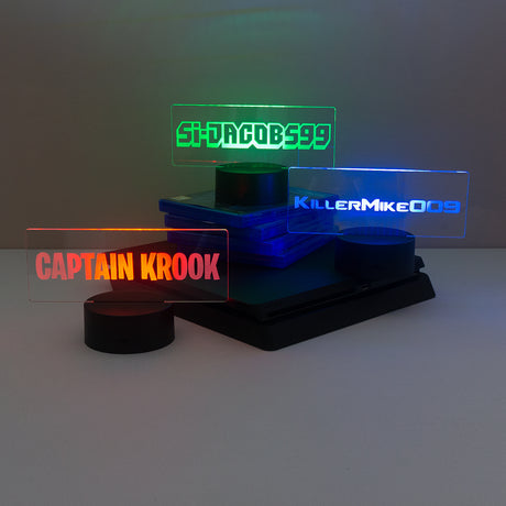 Gamer name LED light up sign