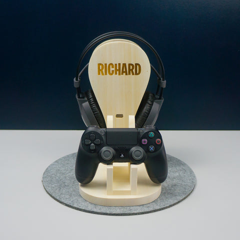 Gaming headphone and controller stand
