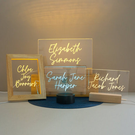 Personalised light up LED name sign
