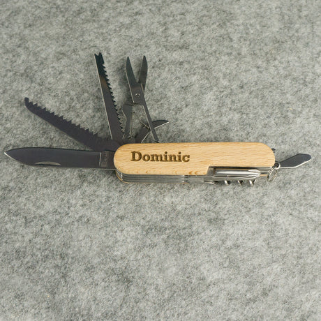 Personalised multi tool pocket knife