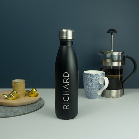 Personalised reusable stainless steel water bottle