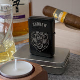 Personalised retro petrol lighter. 3 designs