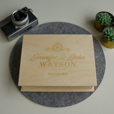 Wedding day photo box album
