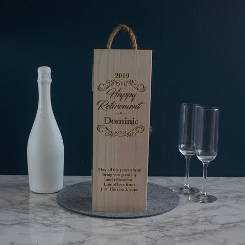 Retirement wine box