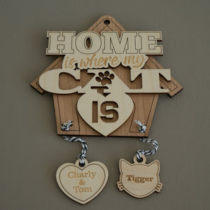 Personalised 'Home is where my cat is'