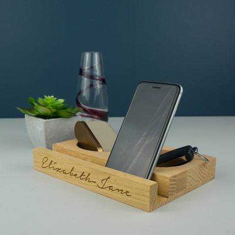 wooden ipad stand