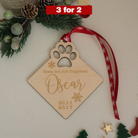 Personalised pet memorial decoration