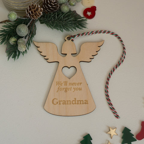 Personalised angel memorial Christmas decoration