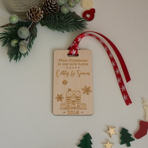 Personalised Christmas decoration for couple's