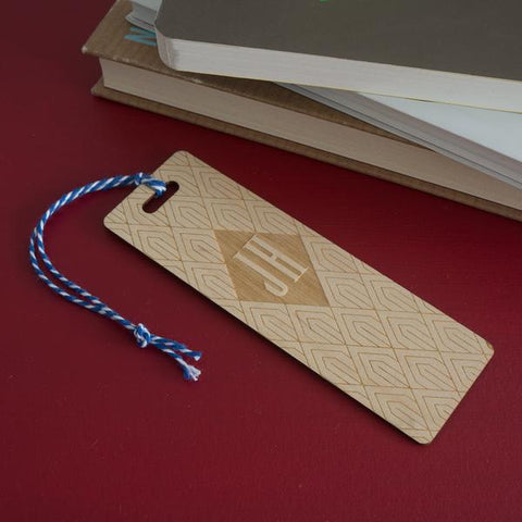Engraved custom made art deco style bookmark gift Belvedere Collections