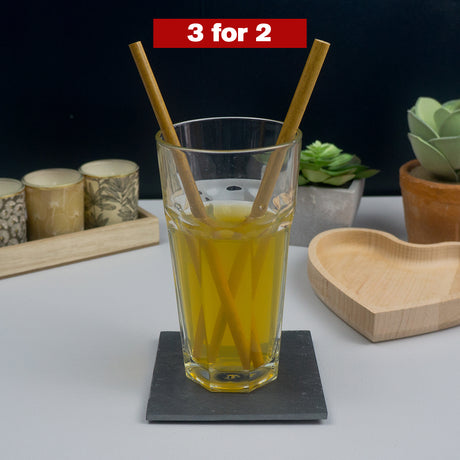 Bamboo reusable drinking straws