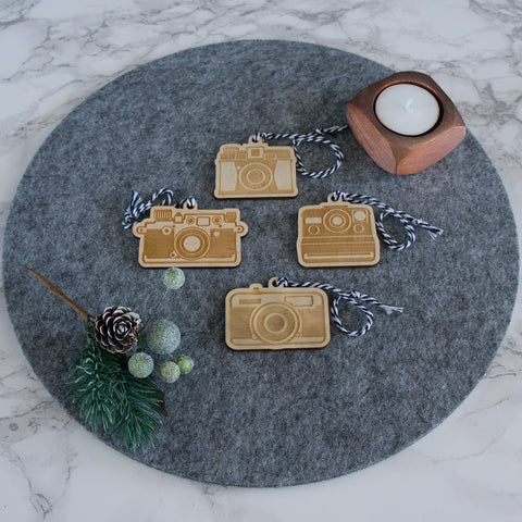 Retro camera hanging decorations