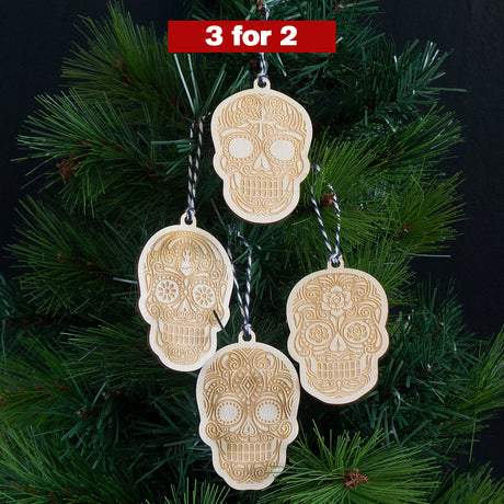 Sugar skull hanging decorations