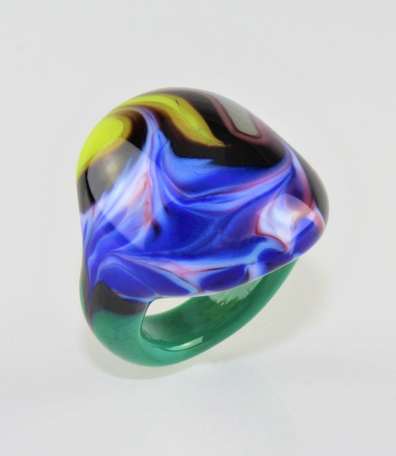 "Ring ""Arizona"" No. 11, Borosilikatglas, multicolor"