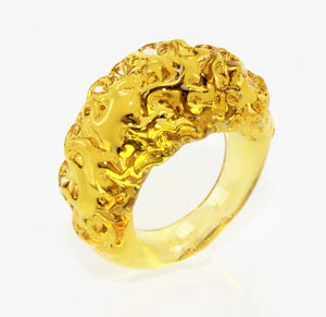 "Ring ""mountain and valley"",Citrin-Bernstein, Borosilikatglas"