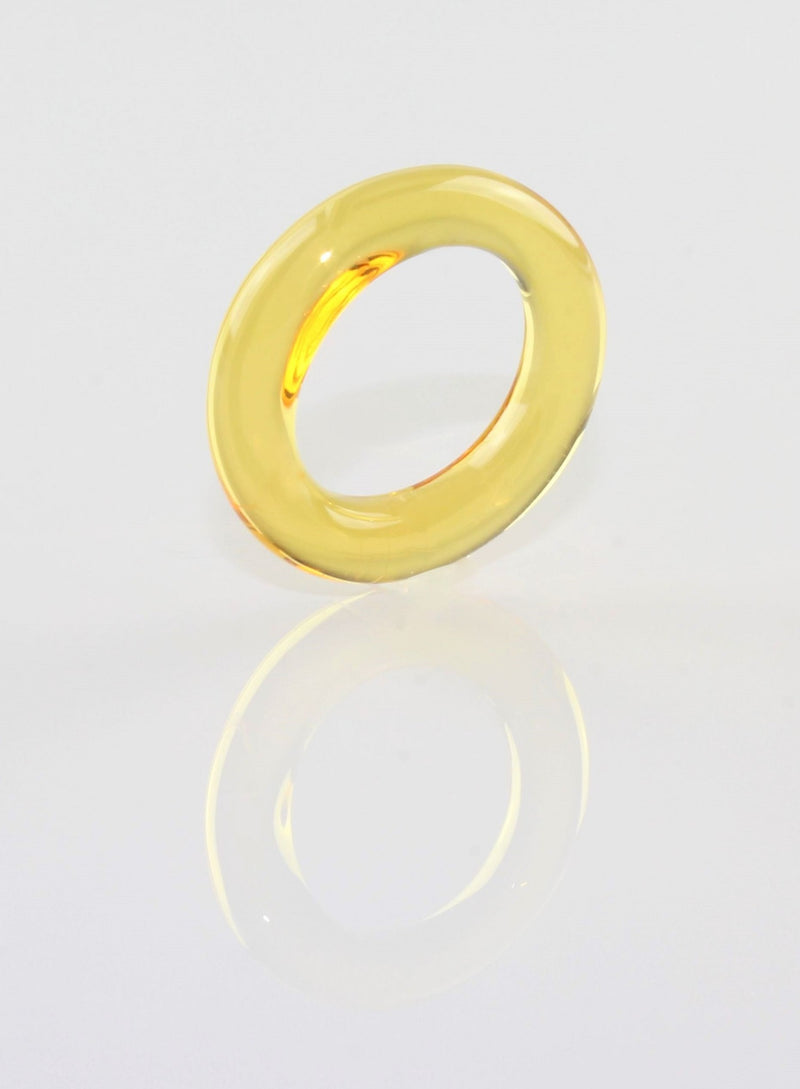 "Ring ""Loop"" Borosilikatglas Citrin klar"