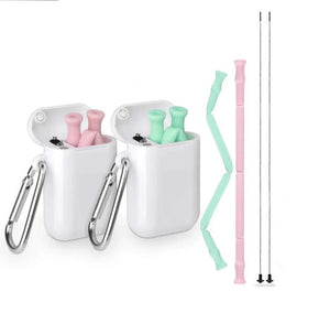 Silicon Straws with hardcase - Kid friendly Straw!
