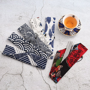 Pouch set of Stainless Steel Straws