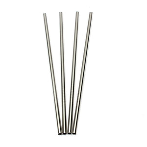 Stainless Steel Four Set Straw - Metal