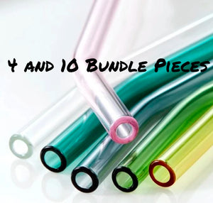 The Big Bundle - 4 and 10 pieces of  Vitrum Glass Straws