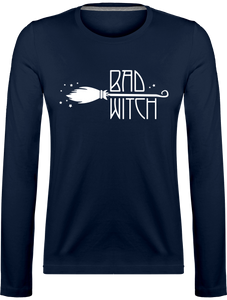 T-shirt Femme à Manches Longues Bad Witch marine
