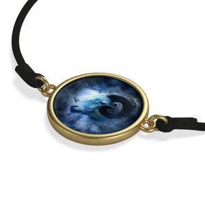 [bracelet-corde-zodiaque-belier-or] - Planet Zen
