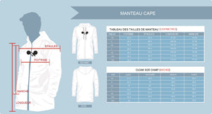 Manteau Cape Leaves in the Wind - Collection Hiver