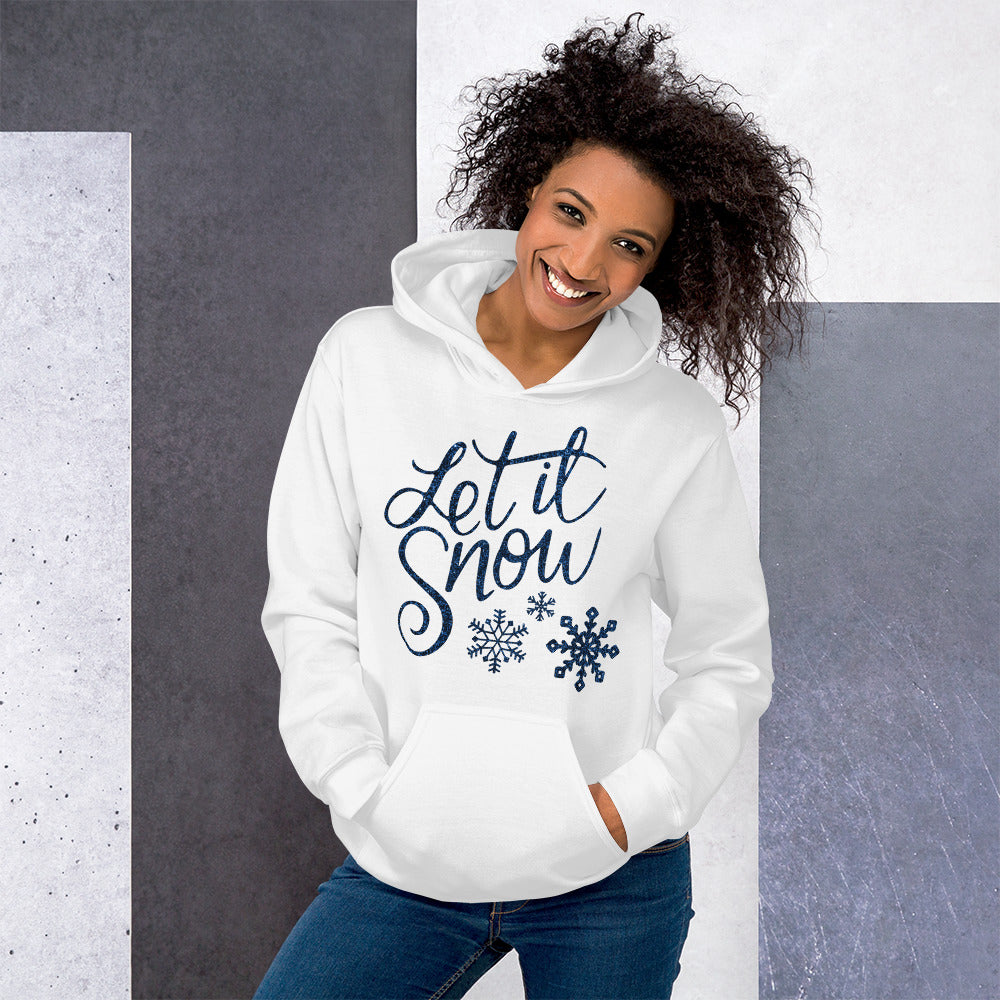 [sweat-a-capuche-blanc-let-it-snow] - Planet Zen