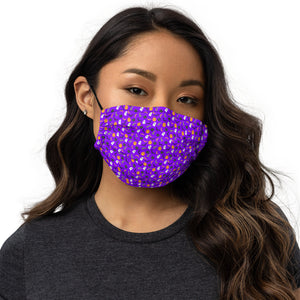 Masque Facial Scary Purple de face