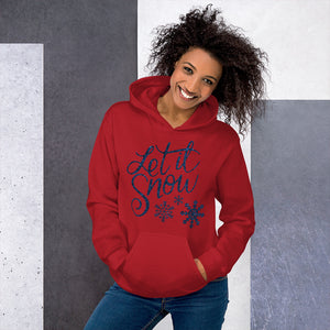 [sweat-a-capuche-rouge-let-it-snow] - Planet Zen