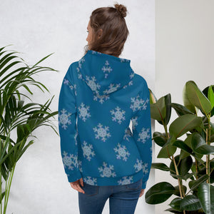 [sweat-a-capuche-femme-flocons-de-neige-dos] - Planet Zen