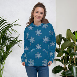 [sweat-a-capuche-femme-flocons-de-neige-collection-hiver-2019] - Planet Zen