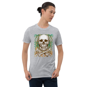 T-shirt Homme Skull and Bones gris
