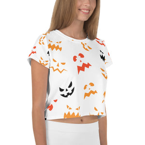 T-shirt crop-top Scary Pumpkin