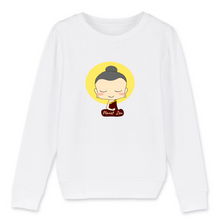 [sweat-shirt-enfant-blanc-meditating-child] - Planet Zen