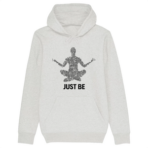 [sweat-a-capuche-blanc-coton-bio-just-be] - Planet Zen