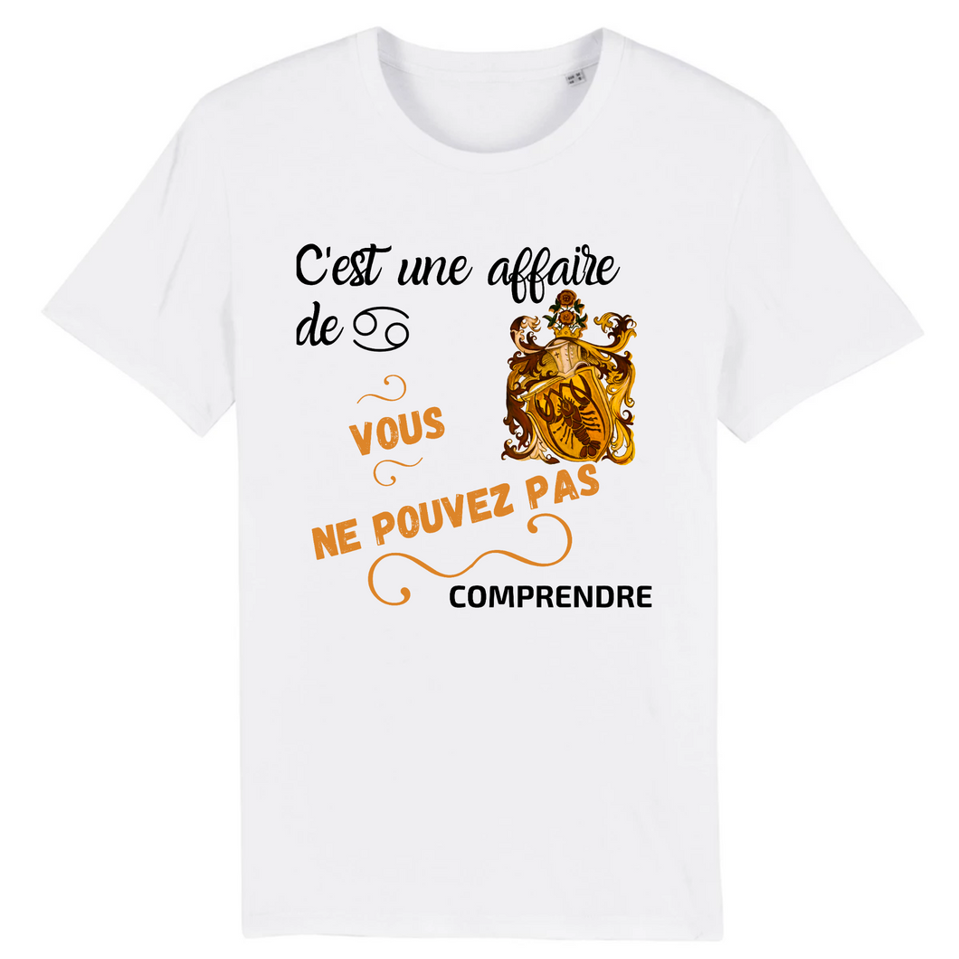 [t-shirt-blanc-cest-une-affaire-de-cancer] - Planet Zen