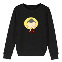 [sweat-shirt-enfant-noir-meditating-child] - Planet Zen