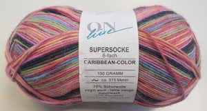 "Supersocke 6 ply - ""Caribbean Color"""