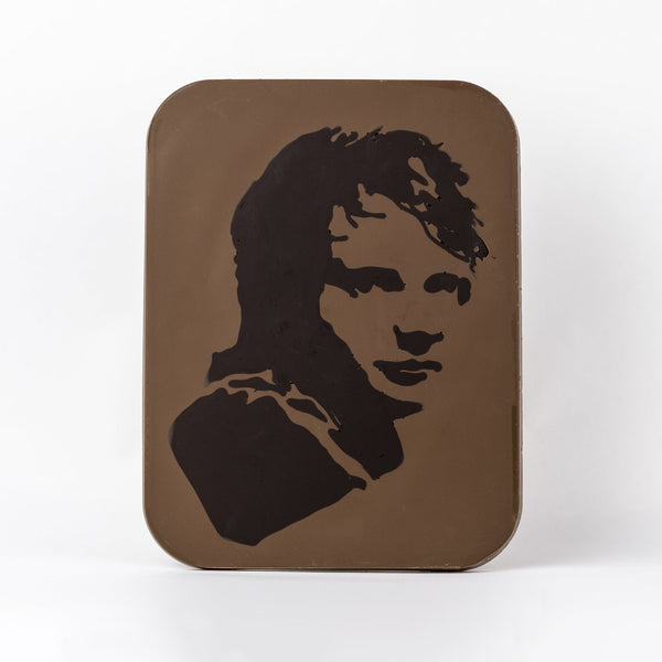 Chocolate Art Slab with image of Ed Sheeran