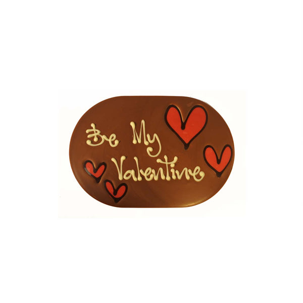 Be my Valentine Chocogram with Hearts