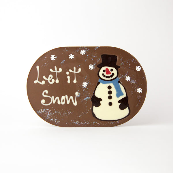 Christmas Snowman Let it Snow Chocogram