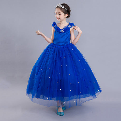 Girls Disney Cinderella Elsa Costume Dress - Booth79