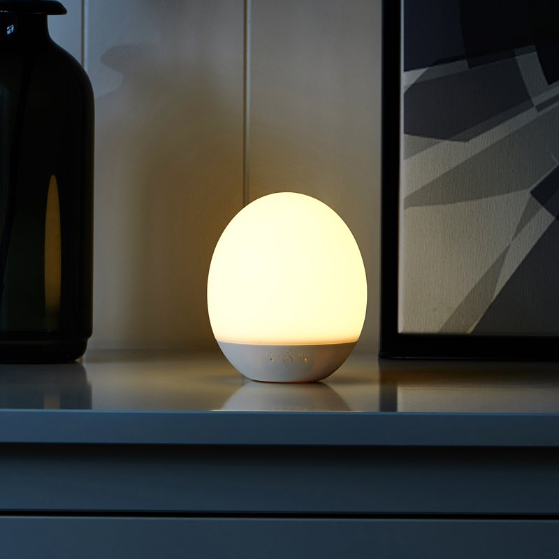 Cute Egg Shape Silicone Rechargeable LED Lamp with Touch Sensor - Booth79