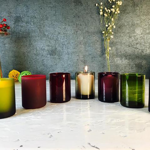 Pure Color Candle Cup Decorative Candle Holder - Booth79